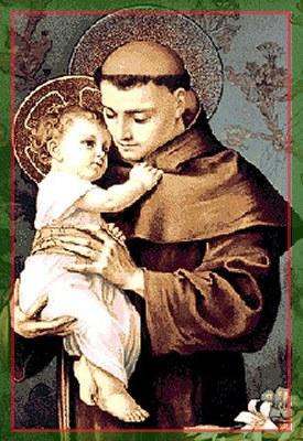 聖安東尼樂於與小耶穌交談