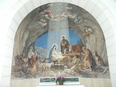 牧羊人聖堂內之聖誕壁畫