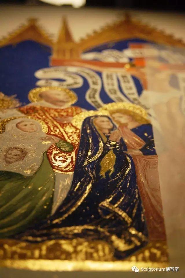 ▲ 按傳統,聖道明額前的一顆星。