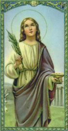 12月13日 聖女路濟亞(St. Lucy)